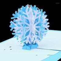 2020 새로운 도착 눈송이 디자인 3D -up 크리스마스 카드 휴일 카드 휴일 초대장 Envelope1