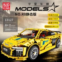 Sembo Audis R8 Technic Series Sport Racing Car Model Kit Building Blocks Bricks Compatible with lepining Toys For Children Gifts X0102