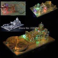3D металлическая головоломка Италия Святой Питер Базилика церковь архитектурное миниатюрное здание модель DIY лазерный нарезка Собрать Jigsaw Toys Y200421