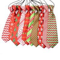 Große große Hunde Krawatten Krawatten Für Medium Big Pet Polyester Silk Dress Up Neck Tie Dog Grooming Supplies 30 Farben Fyallboyz