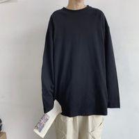 T-shirts à manches surdimensionnées O-Cou O-Cou Casual Solide Long T Spring Automne Amust Libre Hommes Tops Tee 10 Couleur C0119