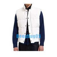 Novo colete à prova d'água elegante para homens primavera / outono / veste de inverno para homens e mulheres amantes jaqueta de alta qualidade 100% de baixo conteúdo XS - XXL