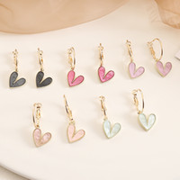 Candy Colors Designer Cute Earring Heart Shape Stud Earrings...