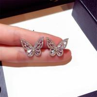 Ins Top Verkauf Luxus Schmuck 925 Sterling Silber Pave White Sapphire CZ Diamant Edelsteine Party Beliebte Frauen Bug Ohrring Geschenk