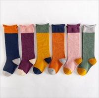 Baby Strümpfe Frühling Herbst Knie Hohe Socken Neugeborenen Baumwolle Lange Socken Mode Prinzessin Boot Socken Strumpfwaren Unterwäsche Kinder Kleidung B7678
