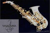 جديد منحني ساكسفون Yanagisawa S-991 BB الموسيقية Soprano سيكس الطلاء الأبيض الأداء المهنية مع حالة الحرة