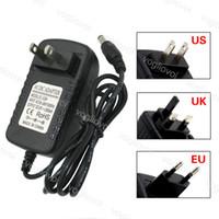 Éclairage Transformateurs Adaptateur d'alimentation US UE U UK Plug 110-240V DC12V 2A Accessoires d'éclairage pour 5050 3528 LED Strip Light Eub