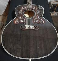 ديلوكس رمادي اللون 43 بوصة الغيتار الصوتية، روزوود pickguard مع abalone purfling
