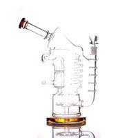 """narguilé 12,5 """"verre bang recycleur DAB plate-forme Double Tubes d'eau Bongs bangs bonnes tuyaux"""