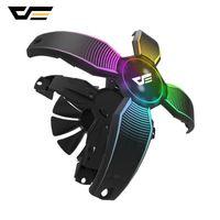 blade fan darkFlash Frameless RGB PC Caso Fluxo preto Fan 12V 4Pin computador desktop Caso Gaming