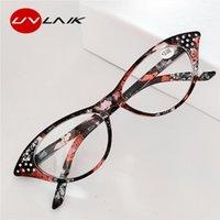 Солнцезащитные очки Увлайк Ретро Кошка Очки для чтения для глаз Женщины Diamond Cat's DioPter для читателя 1.0 1.5 2.0 2.5 3.0 3.5 4.0