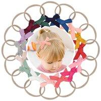 16 cores / lote crianças bebê headbands headwear nylon elástico cabelo cabelo artesanal boutique hairband turban headwear acessório de cabelo q sqcbmg