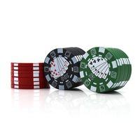 Tabacco Гриндер Jetton Grusher Poker Style Cigarette Crusher 40 мм Диаметр Ручка Мюллера Грибка 3 Части Пластиковые Курительные Специи Дробилка
