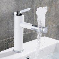 Mezclador de lavadero Toque 360 grados Girar Bath Faucet Faucet Negro y Plata Acabado de cromo Single Mano Torneiras Do Banheiro