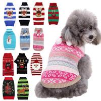 Noel Köpek Giysileri Küçük ve Orta Boyutlu Köpek Teddy Giysileri Noel Baba Elk Kardan Adam Baskı Çizgili Pet Giysileri XD24285