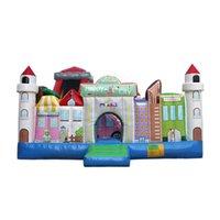 سعيد التجارية الصف للنفخ سعيد مدينة قلعة كومبو pvc سعيد مدينة قلعة ملاهي ملاهي للأطفال الإيجارات التجارية مع منفاخ الهواء