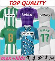 Hommes + enfants 2020 2021 kits de football Real Betis maillot de football maillot de football CANALES JUANMI FEKIR BARTRA B.IGLESIAS JOAQUIN maillot de football