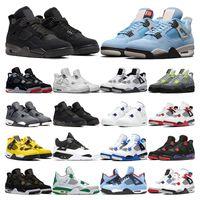 air retro jordan 4  Basketballschuhe Bred Weißzement schwarze Katze Royalty SE Cavs Raptor Sngl-Dy Sport 4 Sneaker Schuhe Größe 7-13