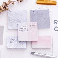 Цвет мрамора блокнота самоклеящаяся накладная записка липкая бумага примечания закладки школьные офисные канцелярские принадлежности