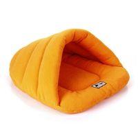 Sac de couchage pour animaux de couchage doux Polaire Tape Polaire Portable Ultralight Packable Pet Lit Pierre Chiot Cave Lit Hiver HIHE3715