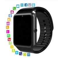 Neue Ankunft GT08 Smartwatch mit SIM-Karten-Slot Android Smart Watch für Samsung und iOS Apple iPhone Smartphone-Armband Bluetooth-Uhren