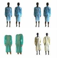 Não-tecidos de protecção Roupa descartável Isolamento Vestidos Vestuário Ternos Outdoor Anti poeira doméstica Raincoat CYZ2910 transporte marítimo
