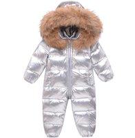 INS Baby Impermeable Snowsuits Piel infantil Con capucha Con capucha Los niños a prueba de viento espesan abrigo de una pieza cálida A5442