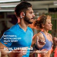 Conduction osseuse non in-oreille écouteurs montés oreillettes casque sans fil écouteurs étanche casque étanche auriculaire auriculaire