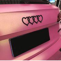 Aşk Kalp Logosu Arka Trunk Rozeti Amblem Çıkartması Sticker Yedek Audi Araba Logosu Çıkartması Araba Kuyruk Etiket Araç R30