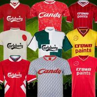Dalglish Retro Fútbol Jerseys Gerrard 2005 Barnes McManaman Camisetas de fútbol Torres 82 89 91 Maillot 85 86 Fowler 08 09 CAMESITA DE FOOT