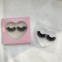 3D Mink Eyelash Package Boxes False Eyelashes Packaging Empty Eyelash Box Case Creative Heart Shaped Lashes Box Packaging RRA4108