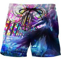 Männer Shorts schuldig Krone 3D drucken kurze koffer männer anime style cosplay streetwear strand sport beiläufige schwimmbekleidung booden1