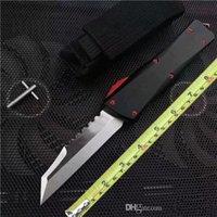 Cuchillo CNC de alta calidad A07 Fold Blade Cuchillos de bolsillo 440C Hoja de acero Auto Táctico Táctico Cuchillo Plegable Mariposa C07 B01 Camping Caza Supervivencia