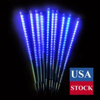 سلسلة أضواء، مقاوم للماء يسقط المطر أضواء الجنية مع 50CM 480 LED 10 أنابيب النيزك دش المطر أضواء عيد الميلاد LED لحفل زفاف