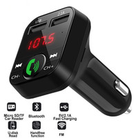 Auto Bluetooth Trasmettitore fm wireless auto kit vivavoce Audio ricevitore Auto MP3 Player 2.1A Dual USB Fast Charger Car Caricabatterie auto