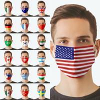 2021 الأعلام الوطنية الأمريكية مصمم أقنعة الوجه الكبار الدراجات في الهواء الطلق مكافحة الغبار يندبروف قابل للغسل قابلة لإعادة الاستخدام تخصيص قناع حزب للجنسين