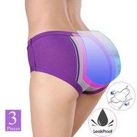 Panies pour femmes Sous-robe physiologique menstruelle Grandes fuite de fuite à trois couches de fuite à trois couches Big tante Triangle Sanitaire