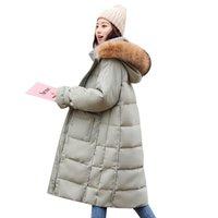 Donne Down Parks Giacca di grandi dimensioni Giacca da donna Cappotto invernale Collare di pelliccia di pelliccia sovradimensionata Plus XS-L Spessa Calda Anatra Anatra Cappotti femminili