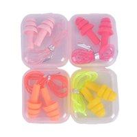 1Pair Comfort Ohrstöpsel Geräusche Reduktion Silikon Weiche Ohrstecker PVC Seil Ohrstöcken Schutz Für Schwimmen für den Schlaf