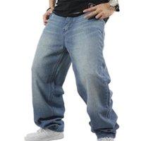 Shierxi Man Shay Skateboard Skateboard Baggy Denim Pants Hip Hop Uomo AD Rap Jeans 4 Seasons Big Size 30-46