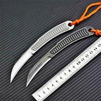 Bas Feather Fixe Couteau droit Camping Camping Pliante Couteau Couteau Couteau Couteau d'extérieur Outils de Noël Cadeau de Noël A2315
