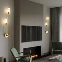 Moderne LED Wandleuchte Nordic Messing Lufter Lichter für Schlafzimmer Nachttisch Lesekorridor Gang Home Indoor Dekoration Beleuchtung