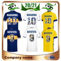 20/21 Maradona Boca Juniors Soccer Jerseys 2021 Mailleots de Football Boca الطباعة الخاصة # 9 الزي الرسمي قميص Batistuta لكرة القدم