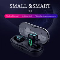 Q13S TWS Bluetooth 5.0 Headset Mini Twins Wireless Stereo Earphone In-Ear Earbud Charging Box with Mic for Smartphones