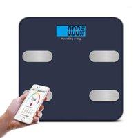 Alta sensibilidade escala de peso digital escala inteligente balanço conectado casa de banho cor corpo escala humano pesando peso gordo1