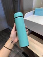 Nouveau 20 couleurs Unisexe portable thermos tasse classique design de haute qualité bouteilles d'eau cuir domestique home plasquette eau flacon librement navire