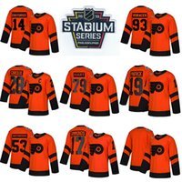 2019 Philadelphia Flyers Hockey 79 Carter Hart 28 Claude Giroux 53 Gostisbeia 93 Voracek 11 Konecny 9 Provoradoov Gelo Hóquei Jerseys
