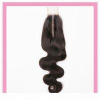 Brazilian Virgin Hair 2x6 Lace Fechamento Middle Part Cheap 2 * 6 Cor Natural Cor Corpo Onda Top Fechamentos Cabelo Produtos 8-20inch