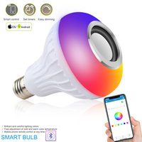 Bluetooth Light Bulb Speaker Smart Led RGB Color Bulbs E27 مع أضواء التحكم عن بعد متعدد الألوان