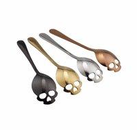 Paslanmaz çelik şeker kafatası kaşık yaratıcı çatal bıçak takımı tatlı kahve kepçe gıda sınıfı şeker çay kaşığı k jllurl mx_home